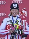 Aspen, CO - 27 novembre: Marlies Schild vince il Audi Q Fotografia Stock Libera da Diritti