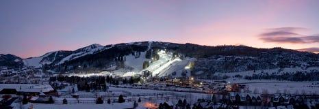 Aspen, CO - 28 de enero: El lugar de los X-Juegos del invierno de ESPN Imágenes de archivo libres de regalías
