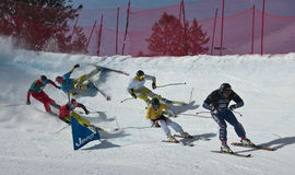 Aspen, CO - 29 gennaio: grande azione durante il elimina Fotografia Stock