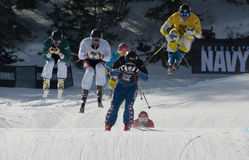 Aspen, CO - Jan 29: great action during an elimina Stock Photo