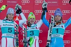 ASPEN, CO - NOV 25: Kathrin Zettel (3) wins Stock Photos