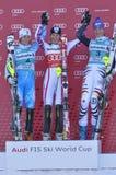 Aspen, CO - novembro 27: Maria Pietilae-Holmner (L), miliampère Fotos de Stock Royalty Free