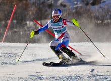 Aspen, CO - novembro 27: Nadja Vogel no Audi Quattro Fotografia de Stock Royalty Free