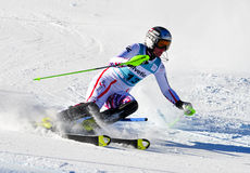 Aspen, CO - novembro 27: Nicole Hosp no Audi Quattr Fotos de Stock Royalty Free