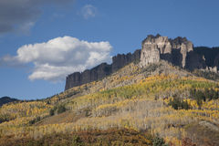 Aspen color near Chimney Peak Royalty Free Stock Photo