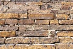 Aspen Colorado Gold Brick Wall royalty free stock photo