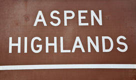 Aspen Highlands Stock Photography