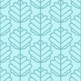 Aspen leaves seamless vector pattern. Vintage style and colors (light blue). Stock Photo
