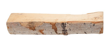 Aspen log. On white background Stock Photo