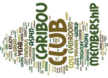 Aspen Nightlife The Caribou Club Word Cloud Concept. Aspen Nightlife The Caribou Club Text Background Word Cloud Concept Stock Photography
