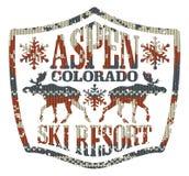 Aspen-Skiort vektor abbildung