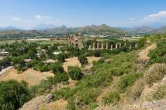Aspendos古老废墟  免版税图库摄影