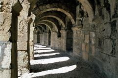aspendos Ρωμαίος αψίδων Στοκ φωτογραφίες με δικαίωμα ελεύθερης χρήσης
