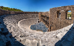 Aspendos amphitheater Royalty Free Stock Images