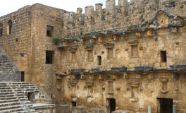 Aspendos amphitheatre Royalty Free Stock Photo