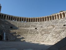 Aspendos Amphitheatre, Anatolië Stock Foto's