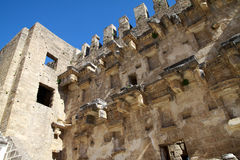 Aspendos amphitheatre in Turkey. Royalty Free Stock Image