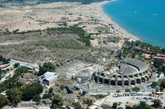 Aspendos antikes Theater Stockbild
