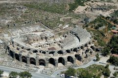 Aspendos antique theatre Royalty Free Stock Image