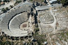 Aspendos antique theatre Royalty Free Stock Photo