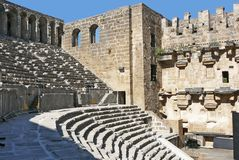 Aspendos Arena. Historical arena Aspendos in Turkey Stock Image