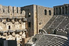 Aspendos Arena. Historical arena Aspendos in Turkey Stock Images