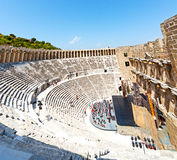Aspendos and broken  in turkey europe   the old theatre abstrac Stock Images