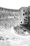 Aspendos and broken  in turkey europe   the old theatre abstrac Stock Photos