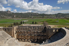 The Roman theatre in Aspendos Stock Images