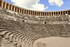 Aspendos theatre in Turkey. Royalty Free Stock Photos