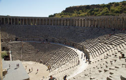 Aspendos theatre in Turkey. Seating area. Best preserved theatre in the ancient world in Aspendos Turkey Built 2nd century bc by local architect Zenon could hold Stock Photos