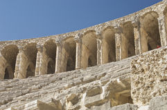 Aspendos theatre in Turkey. Top layer Royalty Free Stock Images