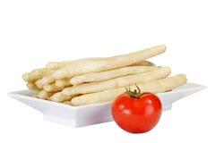 Asperge avec la tomate images stock