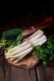 Asperge et rhubarbe blanches photo libre de droits