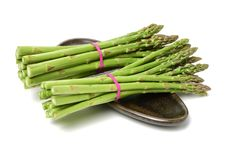 Asperge sur le fond blanc photo stock