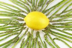 Asperge vers le citron Photographie stock libre de droits
