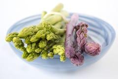 Asperge verte et violette image libre de droits