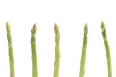 Asperge verte fraîche d'isolement à l'arrière-plan blanc Image stock