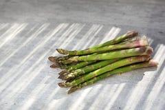 Asperge Asperge verte, usines saisonni?res savoureuses sur un fond naturel photos stock