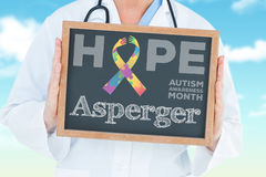 Asperger against blue sky Stock Photos