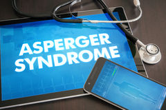 Asperger syndrome (neurological disorder) diagnosis medical  Royalty Free Stock Images