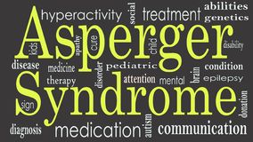 Asperger syndrome word cloud collage, health concept vector illustration