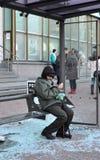 Aspettando il bus Fotografia Stock Libera da Diritti