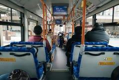 Aspettando la destinazione seguente in bus Immagini Stock Libere da Diritti