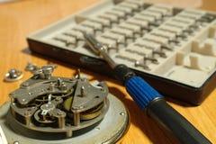 Aspetti per riparare un orologio Immagini Stock Libere da Diritti