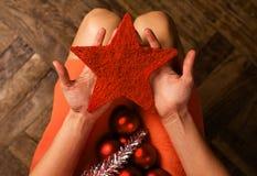 Aspetti per tempo di Natale Fotografie Stock