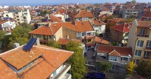 Aspetto architettonico di vecchio Pomorie, Bulgaria Immagine Stock Libera da Diritti