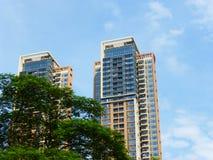 Aspetto degli edifici residenziali urbani immagini stock libere da diritti