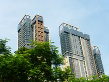 Aspetto degli edifici residenziali urbani fotografia stock