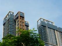 Aspetto degli edifici residenziali urbani fotografia stock libera da diritti